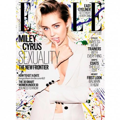 Miley xuất hiện trên ảnh bìa Elle UK số tháng 10/2015