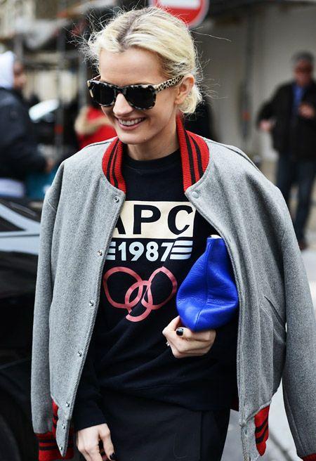Không khó để bắt gặp hình ảnh các fashionista và loại áo khoác này.