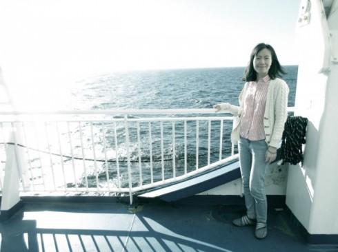 du lịch châu Âu phần 2 - boong tàu Finnlines - elle vietnam