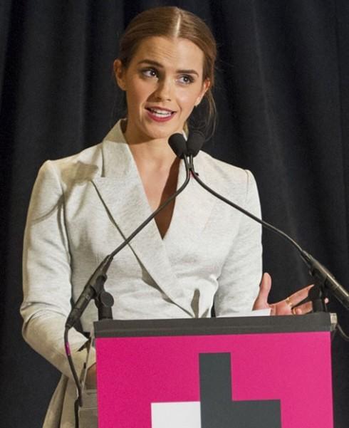 Nữ diễn viên Emma Watson trong một bài phát biểu cho chiến dịch HeforShe