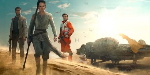 """""""Star Wars 7"""" giúphai ngôi sao trẻ làDaisy Ridley (giữa) và John Boyega (trái) nổi tiếng"""