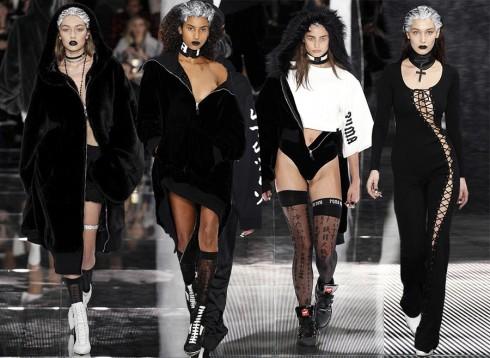 Bộ sưu tập thể hiện rõ phong cách thời trang cá tính cực chất của Rihanna, với những thiết kế thể thao mang đậm chất Gothic thập niên 1990.