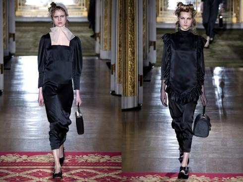 Cảm hứng từ trang phục của những người hầu bếp từ thời Victorian trở nên sang trọng trong thiết kế của Rocha