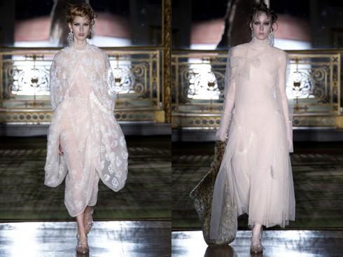 Mẫu váy thắt nhơ ngọt ngào từ Simone Rocha
