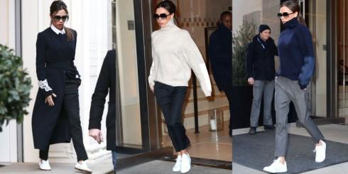 Victoria gần đây thường xuyên xuất hiện trong những đôi giày thể thao
