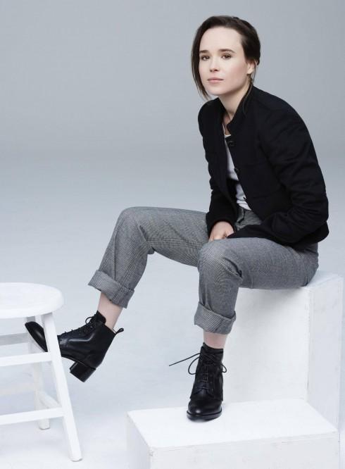 ELLEN PAGE: Nữ diễn viên trẻ đã công bố mình đồng tính trong một buổi ủng hộ giới trẻ LBGT.