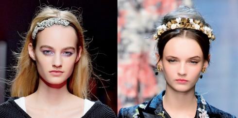 Chiếc vương miện liên tục xuất hiện trên mái tóc được bới gọn hay xõa phồng của người mẫu tạo nên vẻ đẹp kiêu sa và vương quyền