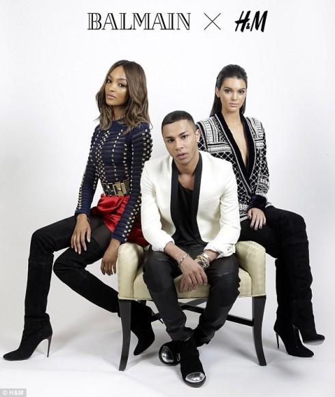 Olivier Rousteign trong campaign của Balmain x H&M