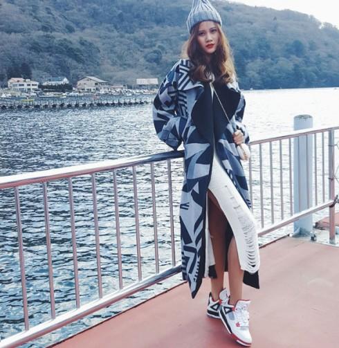 Hương Ly đại diện Việt Nam trình diễn tại show thời trang Nhật Bản 07 ELLE VN
