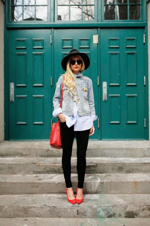 6 cách phối đồ với áo khoác denim - elle Vietnam 09