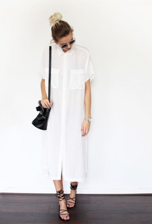 6 Gợi ý cách mặc đẹp đơn giản và cuốn hút với shirt dress elle Vietnam 01