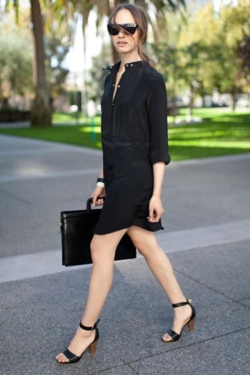 6 Gợi ý cách mặc đẹp đơn giản và cuốn hút với shirt dress elle Vietnam 14