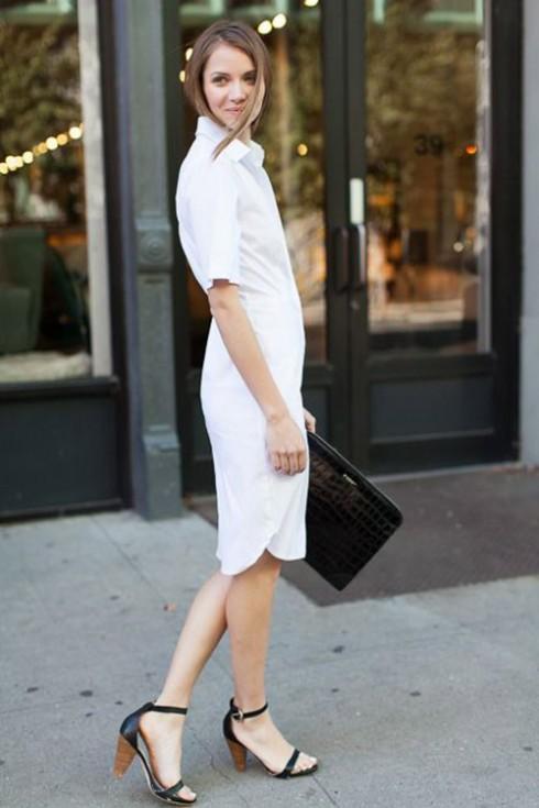 6 Gợi ý cách mặc đẹp đơn giản và cuốn hút với shirt dress elle Vietnam 23