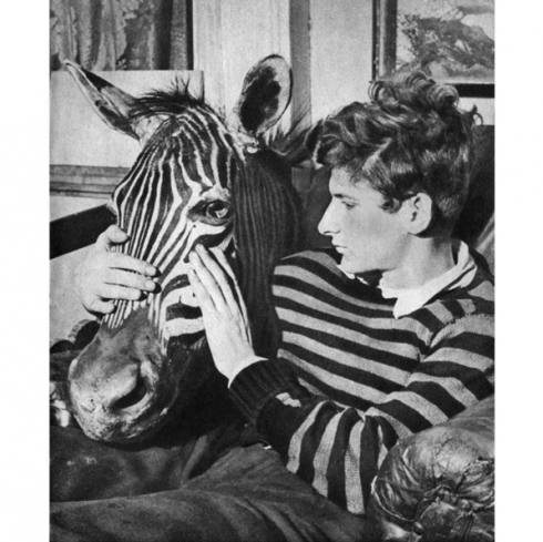 'Lucian Freud with Zebra Head', 1943