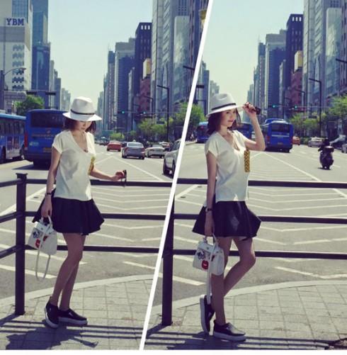 Là một trong những Fashionista của showbiz Việt, cô luôn không ngừng làm mới bản thân