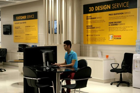 Dịch vụ phối cảnh 3D theo không gian thực của khách hàng vô cùng tiện dụng.