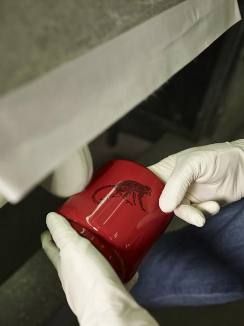 Bên cạnh các kỹ thuật ứng dụng sơn mài trên chất liệu truyền thống như gỗ, sừng, lá kim loại, vỏ trứng, Hanoia đi tiên phong trong việc kết hợp sơn mài với các chất liệu mới như giấy bồi, ngọc trai, lụa, gốm, thủy tinh…