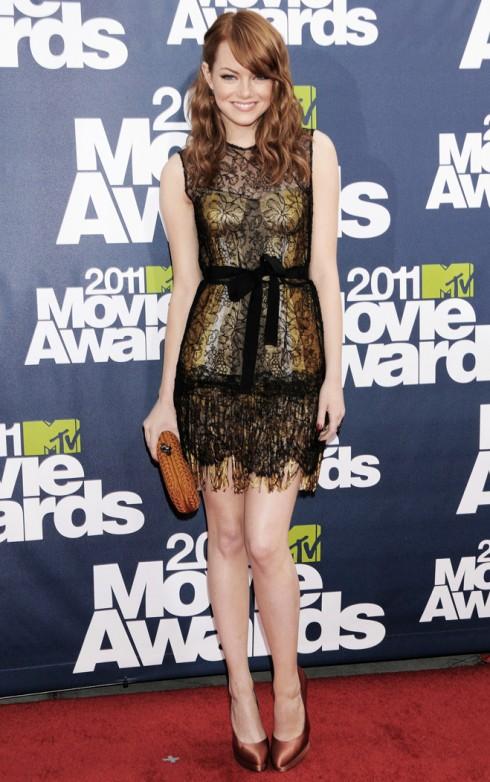 Nữ diễn viên Emma Stone tại lễ trao giải MTV Movie Awards 2011