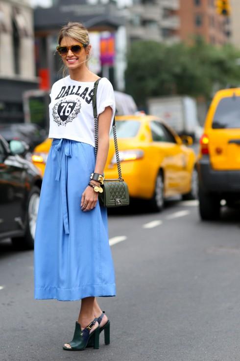 6 Cách mặc đẹp với quần lửng ống rộng elle Vietnam 16