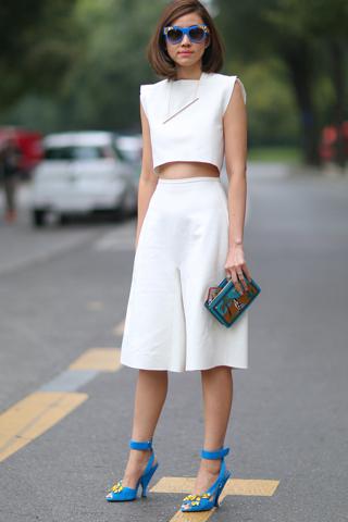 5 cách mặc đồ đẹp với quần lửng ống rộng