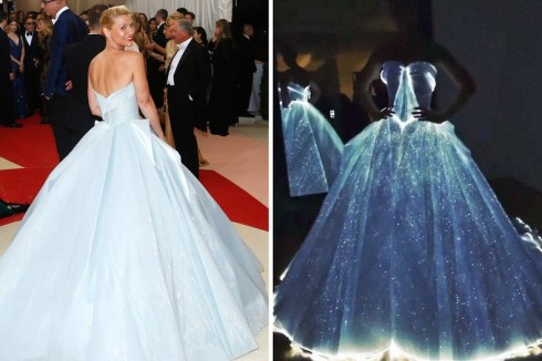 Clare Danes và chiếc váy ballgown rực sáng từ Zac Posen