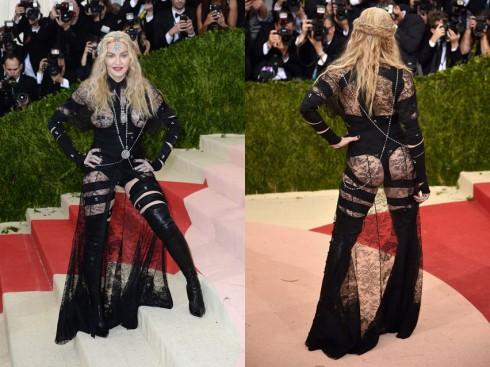 Đứng đầu danh sách không ai khác ngoài nữ hoàng Madonna. Cũng ở độ tuổi ngũ tuần nhưng trang phục của Madonna thiếu sự tinh tế, tiết chế so với cựu siêu mẫu Cindy Crawford.