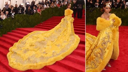 Chiếc váy hoàng bào của Rihanna tại MET Ball 2015.