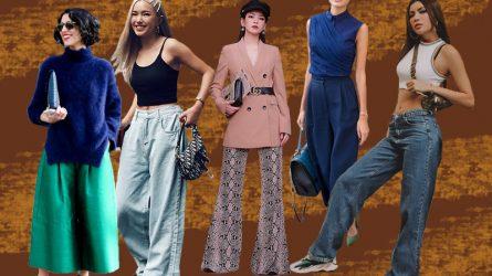 Học hỏi các sao và fashionista 6 cách mặc đồ đẹp với quần ống rộng