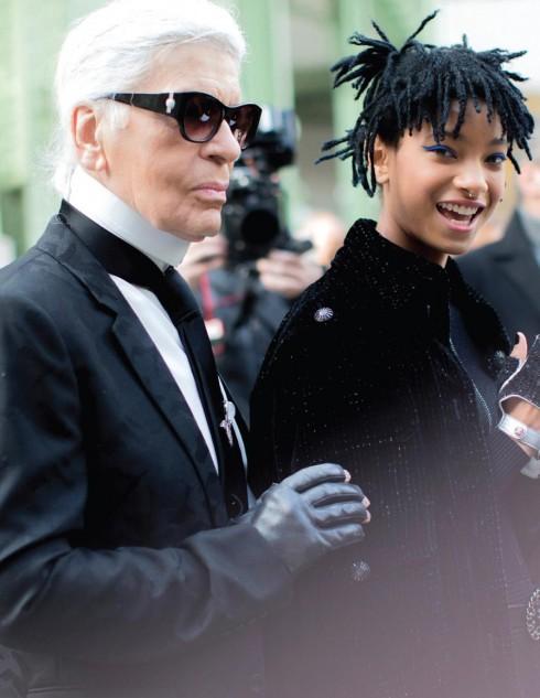 """NTK Karl Lagerfeld và Willow Smith, """"nàng thơ"""" mới và trẻ tuổi nhất của Chanel"""