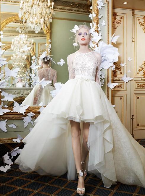 Gợi ý chọn váy cưới đẹp cho cô dâu có chiều cao khiêm tốn -ellevietnam 01