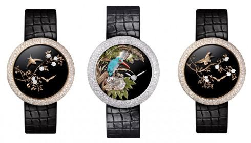 Các mẫu đồng hồ Mademoiselle Privé Coromandel được chế tác tinh xảo từ vàng 18K và nạm đính kim cương