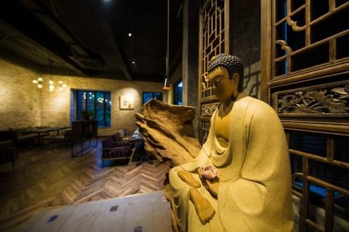 Từng góc không gian Ưu Đàm đều mang hơi thở Phật gia