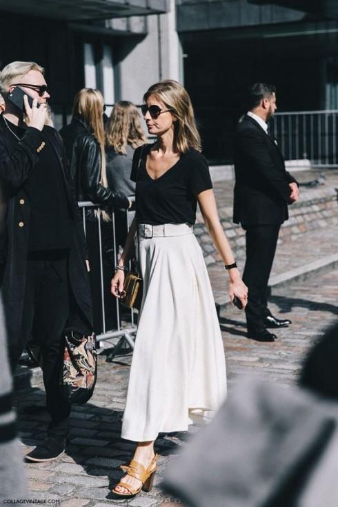Đen và trắng và sự đơn giản là bộ ba phong cách của thời trang.