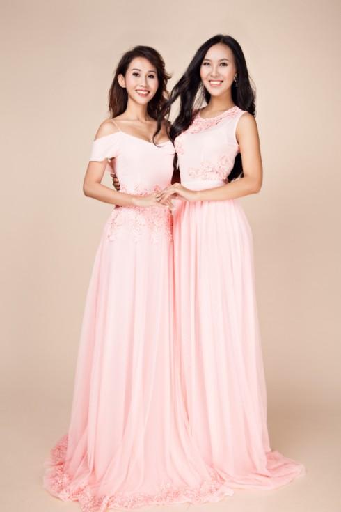 váy dạ hội màu hồng nhạt 1