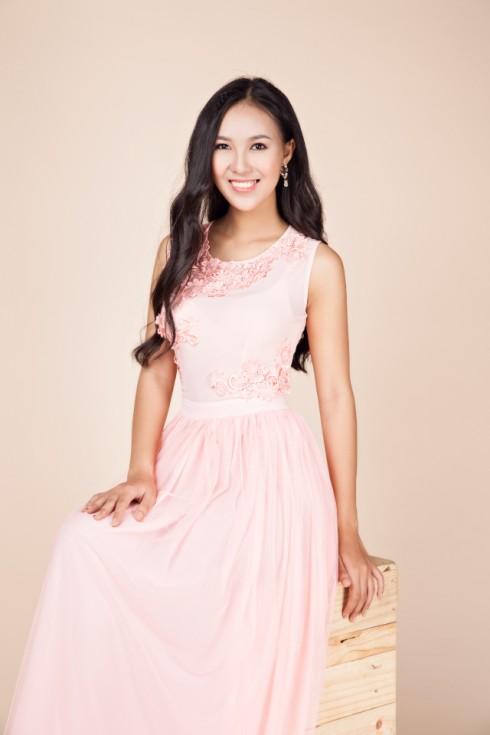 váy dạ hội màu hồng nhạt 2