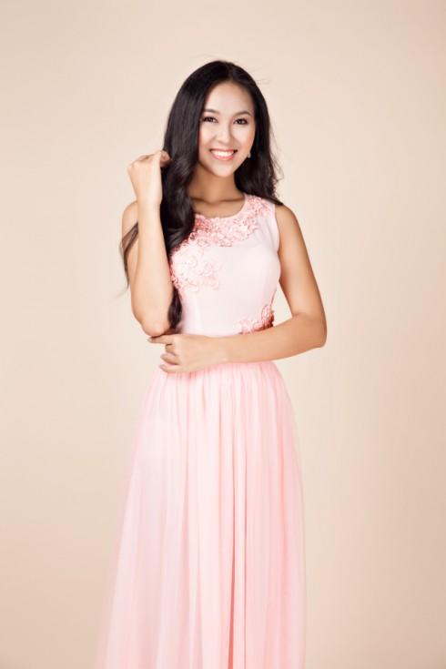 váy dạ hội màu hồng nhạt 3