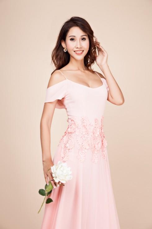 váy dạ hội màu hồng nhạt 5