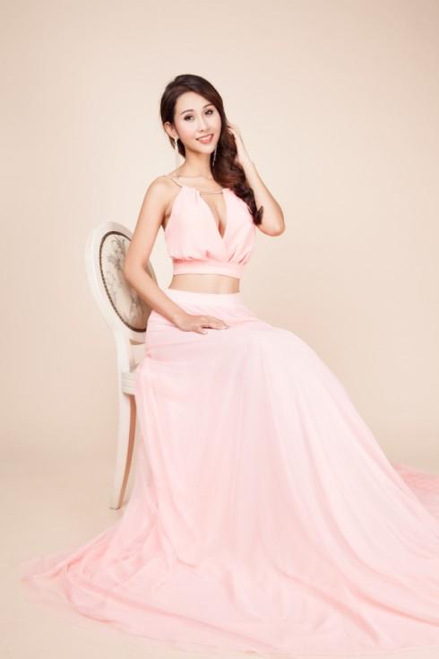 váy dạ hội màu hồng nhạt 7