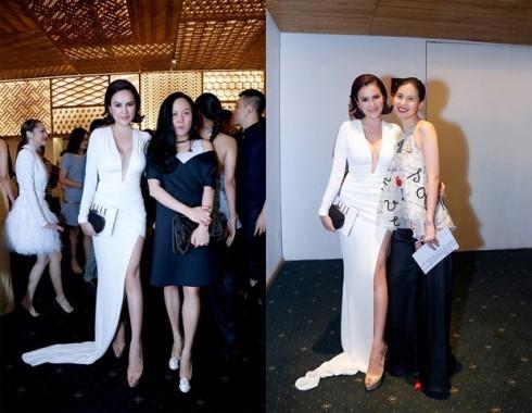 Doanh nhân Phượng Chanel và NTK Thủy Nguyễn cũng xuất hiện tại sự kiện.
