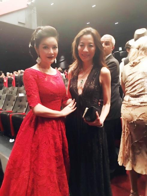 Lý Nhã Kỳ nổi bật với sắc đỏ cổ điển tại Cannes 2016 18