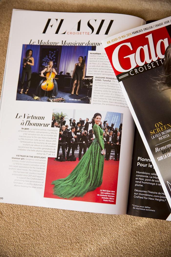 Lý Nhã Kỳ xuất hiện trên Gala - tạp chí danh giá nước Pháp