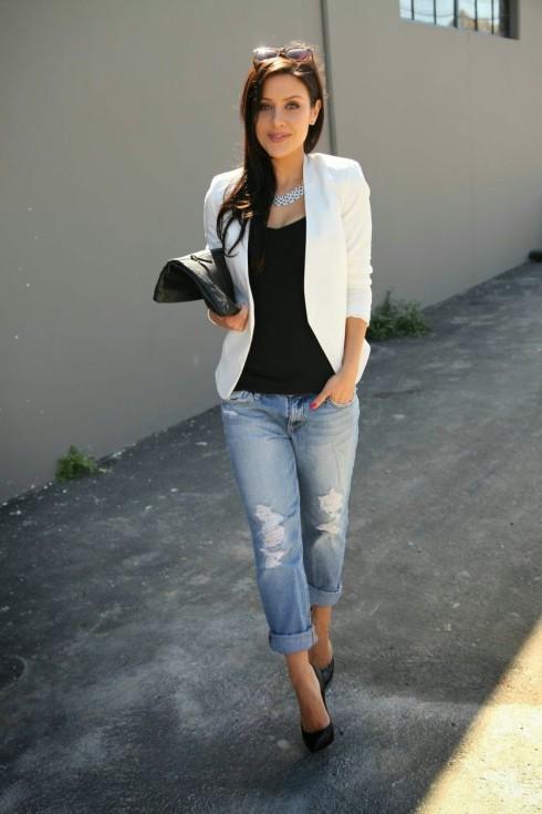 Những điều nên và không nên đối với trang phục công sở White-Blazer2