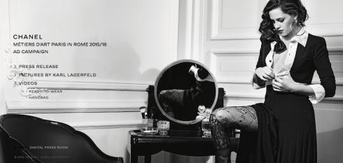 Kristen Stewart hóa minh tinh gợi cảm trong chiến dịch quảng bá BST Métiers d'art Paris in Rome -ellevietnam 01