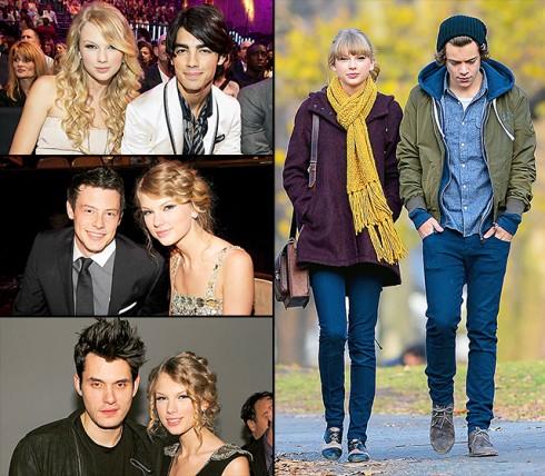 Taylor Swift từng trải qua rất nhiều mối tình nhưng đều kết thúc rất nhanh chóng