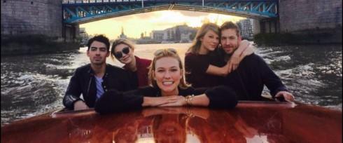 Gigi Hadid và Taylor Swift vui vẻ bên bạn trai
