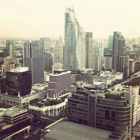 Quang cảnh Thái Lan từ tầng 49 của khách sạn Centara Grand at CentralWorld - Bangkok