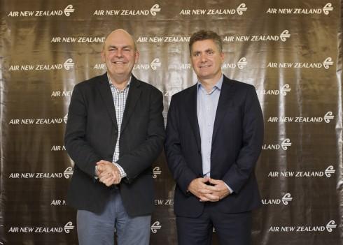 Bộ trưởng Phát triển Kinh tế New Zealand Hon. Steven Joyce, Giám đốc Bán hàng và Thương Mại Air New Zealand Cam Wallace