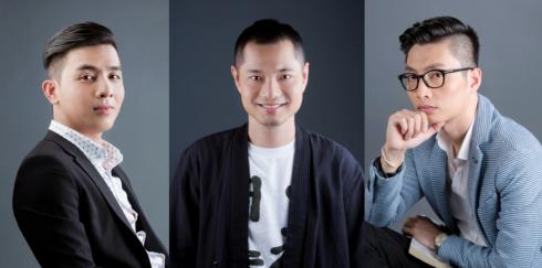 BGK của cuộc thi (từ trái qua): anh Đinh Tuấn Anh, anh Dzũng Yoko, anh Nguyễn Danh Quý