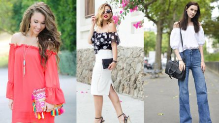 9 gợi ý trang phục với áo trễ vai
