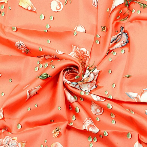 Các hoa văn tuyệt đẹp trên chiếc khăn lụa Hermes nghìn đô 1960 - La rosee, Anne Gavarni
